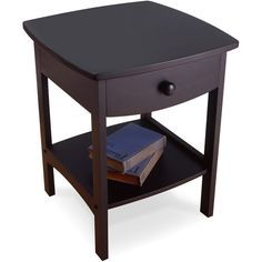 Winsome Wood Accent Table , Walnut Combining solid/composite wood construction with a tidy and practical style, this versatile end table/night stand makes a Wood End Tables, Wood Table, Coffee Tables, Walnut Table, Table Lamp, Contemporary End Tables, Modern Contemporary, Winsome Wood, Night Table