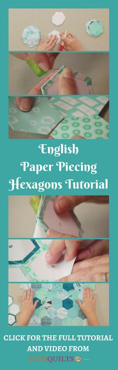 Hexagon English paper piecing is easy after you watch this video tutorial (and step-by-step written instructions).