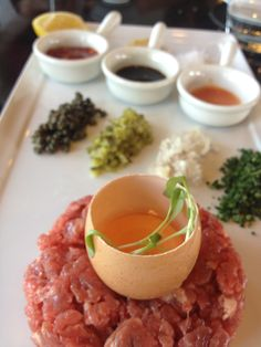 By far the best Steak tartare i have ever had! Steak Tartare, Best Steak, Risotto, Rice, Beef, Ethnic Recipes, Food, Meat, Essen