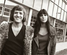 """This will always be the first song I remember hearing from Sonny & Cher and it's still my favorite. The memories from it. Written by Salvatore """"Sonny"""" Bono. Released in 1964 and Re-released in Cherilyn """"Cher"""" Sarkisian Rock Couple, Couple Style, Chaz Bono, Cher Photos, I Got You Babe, 2 Movie, Celebs, Celebrities, Record Producer"""