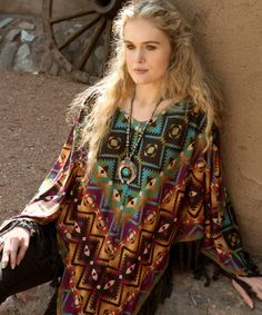 Double D Ranch Fall 2015 Chicora Blanket Poncho! http://www.cowgirlkim.com/double-d-ranch-fall-2015-chicora-blanket-poncho.html