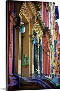 """Rainbow Row, Charleston, SC♥ Soon I will move this to my """"Been There"""" board."""