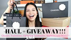 Giveaway + Haul  Chanel, Valentino, Louboutin and more!