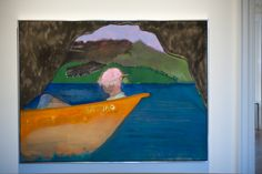 Cave Boat Bird Painting Peter Doig 2010–2012 Oil on linen 121 x 161 cm