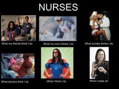 Ah the life of a nurse