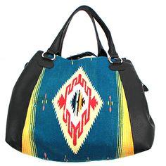 Totem Vintage Serape Deer Skin Handbag