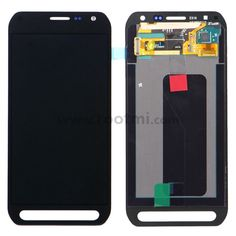 For Samsung Galaxy S6 active SM-G890A LCD Screen and Digitizer Assembly Replacement - Black - Samsung Logo