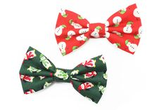 Christmas Dog Bowtie, Christmas Cat Bowtie, Snowman Bow Tie, Cat Bow Tie, Green Red Holiday Penquin Bow Tie by dusidog on Etsy https://www.etsy.com/listing/206495728/christmas-dog-bowtie-christmas-cat
