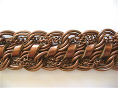 Leather and Copper Chain Bracelet Tutorial ~ The Beading Gem's Journal