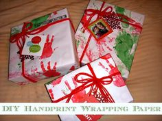 Such a neat idea! Shows you how to make your own wrapping paper for Christmas gifts!