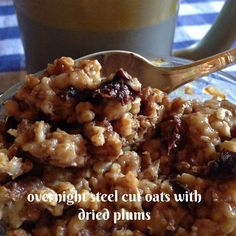Turnips 2 Tangerines: Overnight Steel Cut Oats with Dried Plums Prune Recipes, Surprise Recipe, Dried Prunes, Baby Food Recipes, Cooking Recipes, Steel Cut Oats, Make Ahead Breakfast, Overnight Oats, Plum