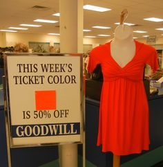Find orange tags for 50% off savings  8/3-8/9/14 www.goodwillwny.org
