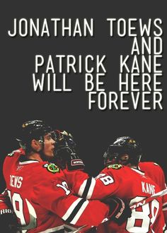 Stan Bowman said this :) what a great thing to see! Toews and Kane Blackhawks Hockey, Hockey Teams, Chicago Blackhawks, Hockey Players, Hockey Stuff, Sports Teams, Jonathan Toews, Hockey Baby, Ice Hockey