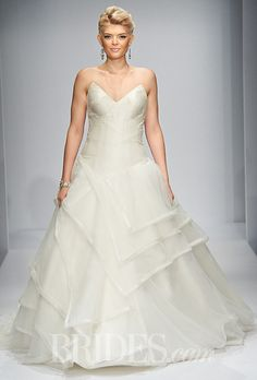 Brides.com: Matthew Christopher Couture strapless wedding dress Fall 2014   Click to see more from this collection!