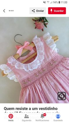 Baby Girl Dress Design, Baby Girl Dress Patterns, Little Girl Outfits, Little Girl Dresses, Toddler Outfits, Kids Outfits, Smocking Baby, Smocked Baby Dresses, Frock Patterns