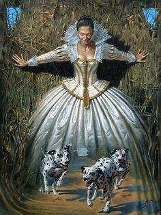 Painting by Michael Cheval