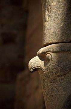 Egypt, Nile Valley, Edfu, Horus Temple, Horus' head
