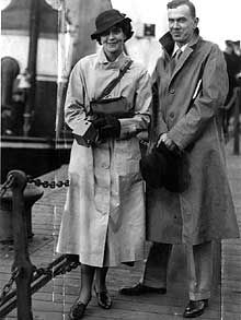 With Graham Greene in Journey without Maps.  Graham Greene and cousin Barbara ,