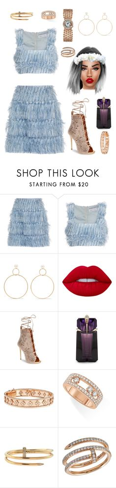 """""""Wow """" by fashiondam ❤ liked on Polyvore featuring Alice McCall, Natasha Schweitzer, Lime Crime, Giuseppe Zanotti, Thierry Mugler, Van Cleef & Arpels, Messika and Cartier"""