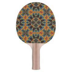Tapestry pattern ping pong paddle - fancy gifts cool gift ideas unique special diy customize