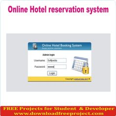 Free Online Hotel Reservation Management System In PHP Projects Download