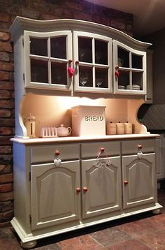 SOLID PINE FARMHOUSE KITCHEN WELSH DRESSER SHABBY CHIC PAINTED FB FURNITURE 5FT   eBay