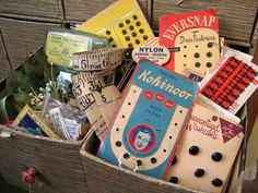 A love for vintage sewing Notions