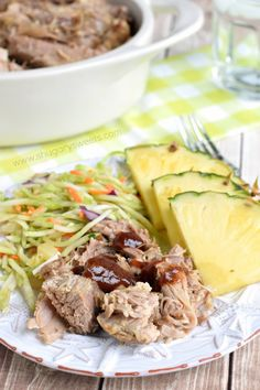 Grab your slow cooker and make some of this smoky Kalua Pork! Tender and juicy, it's so versatile.sandwich, pizza, and more! Kalua Pork Slow Cooker, Slow Cooker Recipes, Crockpot Recipes, Cooking Recipes, Ham Recipes, Salad Recipes, Side Dish Recipes, Dinner Recipes, Dinner Ideas