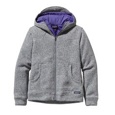 i need this. Patagonia Women's Better Sweater Insulated Fleece Hoody - Birch White BCW