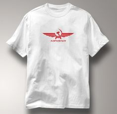 Aeroflot T Shirt Red Russian Airlines Aviation Soviet  Direct to fabric digital print. NOT a transfer. Ink is embedded in the fabric for ultimate wearable comfort. Unisex t-shirt is 100% cotton, preshrunk Hanes Heavyweight 5.5 oz. with double needle sleeves and bottom hem.