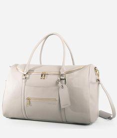 The Weekender - Gray – Fawn Design Luxury Luggage, Vegan Handbags, Hospital Bag, Travel Accessories, Fashion Accessories, Travel Bags, Travel Handbags, Purses, Bags