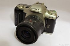 Asahi Pentax MZ 10 silver (1996) - 35mm SLR camera with kit lens (35-80mm zoom AF)