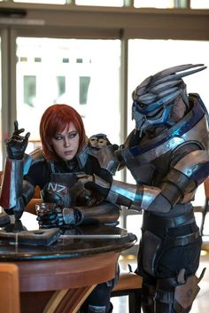 Shepard and Garrus cosplay - Mass Effect
