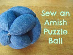 Amish Puzzle Ball TUTORIAL ~ Wash on Monday Irony on Tuesday