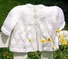 Meadow Sweet Baby Cardi Free Pattern