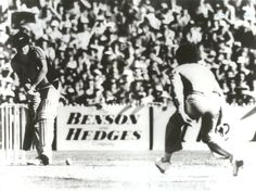 "Brian McKechnie (batsman) and Greg Chappell (bowler) in an infamous 1981 match.  The ""Underarm"" incident: February 1, 1981. New Zealand needed a six to tie from the last ball but Australian captain Greg Chappell gave his brother Trevor the order to send the delivery down underarm, robbing tailender Brian McKechnie of any chance of tieing the match."