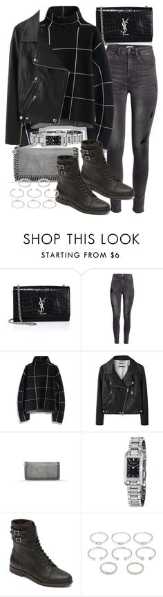 """Untitled #19320"" by florencia95 ❤ liked on Polyvore featuring Yves Saint Laurent, H&M, Chicwish, Acne Studios, STELLA McCARTNEY, Burberry, Rockport and Forever 21"