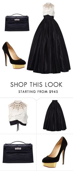"""""""Dress to impress 🎆~"""" by fashionforward965 ❤ liked on Polyvore featuring Marni, Naeem Khan, Hermès and Charlotte Olympia"""