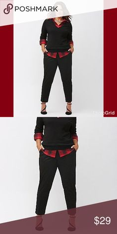 ❤️Lane Bryant Pattern Ankle Pants❤️ Fabulous and fashionable pants from Lane Bryant. Black textured design and the right amount of stretch makes them flattering and comfortable!!! Lane Bryant Pants Ankle & Cropped