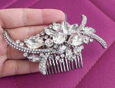 Bridal hair comb wedding hair comb crystal by nefertitijewelry2009, $44.00