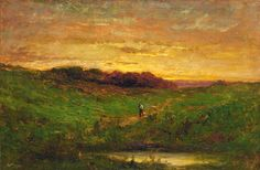 Sunset 1883 Edward Mitchell Bannister Born: St. Andrews, New Brunswick, Canada 1828 Died: Providence, Rhode Island 1901 oil on canvas