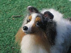 NEEDLE FELTED DOG ~ CUSTOM PET PORTRAIT~SHELTLAND SHEEPDOG~SHELTIE~ by GOURMET FELTED~SKYE by Gourmet Felted, via Flickr
