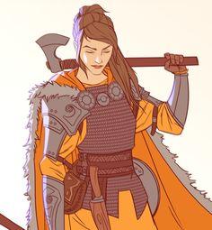 Untitled viking warrior by Magnus Norén : ReasonableFantasy Viking Character, Fantasy Character Design, Character Design Inspiration, Character Concept, Character Art, Character Ideas, Dnd Characters, Fantasy Characters, Female Characters