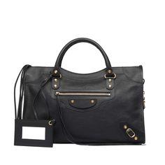 Black Balenciaga Classic Gold City - Women's Holiday Collection - Balenciaga