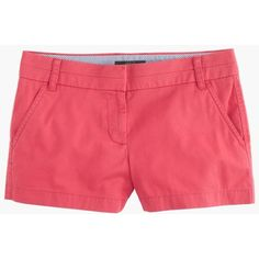 """J.Crew 3"""" Chino Short ($53) ❤ liked on Polyvore featuring shorts, j.crew, zipper shorts, j. crew shorts, short shorts and chino shorts"""