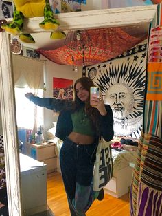 Hippie Outfits, Retro Outfits, Cool Outfits, Fashion Outfits, Room Ideas Bedroom, Bedroom Decor, Ropa Hip Hop, Hippy Room, Estilo Hippy