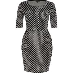 Black spot print tulip dress - day / t-shirt dresses - dresses - women