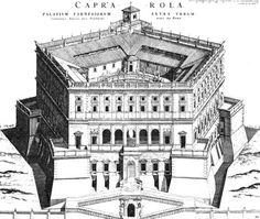 by Giacomo Barozzi da Vignola Villa Farnese, façade from arrival piazza, begun 1559. Caprarola, near Viterbo