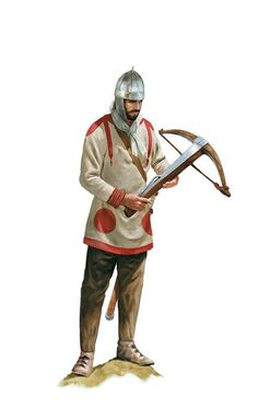 Roman soldier in a daily uniform, early 4th century AD. Artwork by Tom Croft.