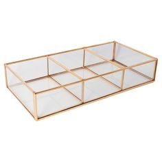 Threshold Glass and Metal 3-Compartment Vanity Tray from Target